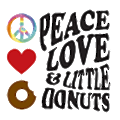 Peace Love & Little Donuts logo
