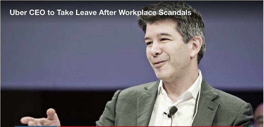 Uber CEO to Take Leave, Diminished Role After Workplace Scandals